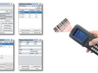 Data collector software for ERP system