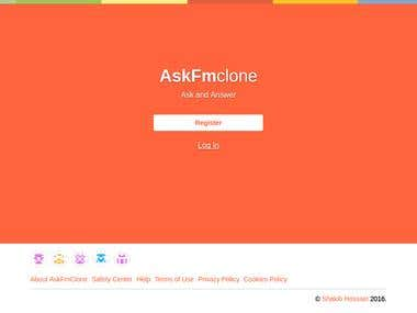 Ask Fm clone using Django