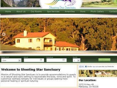 Bed and Breakfast Website with Booking