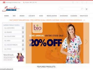 Scrubs Inc E-Commerce Solution