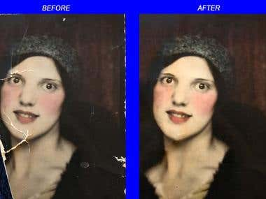 Before After Vintage Photo Fix