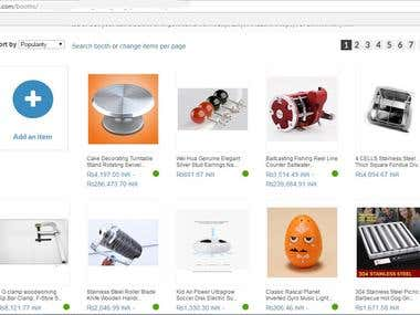Bonanza product listing.