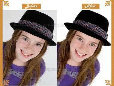 Photo retouching