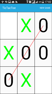 Tic tac toe android game.