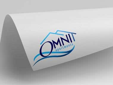OMNI APARTMENTS logo design