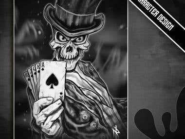 Poker themed illustration pt.2