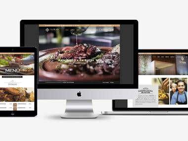 La Plata Restaurante Web Site