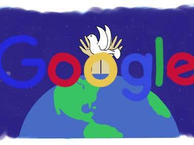 """Doodle4Google - 2016 Entry """"Peace among all of us"""""""