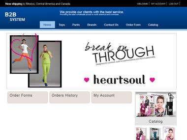 Business to Business (B2B) Web Portal