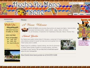 Hecho de Mano Web Site