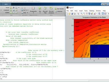 heat transfer project using matlab