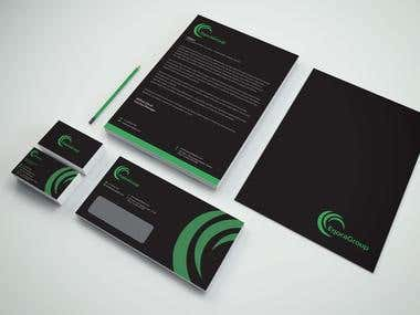 Identity mark+Stationary designed for DM