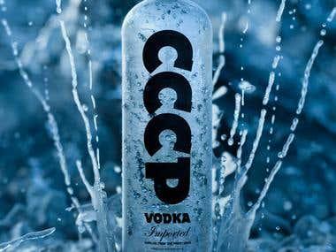 Vodka marketing poster