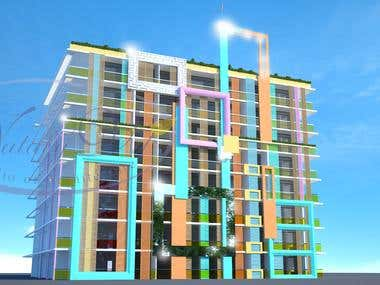 Architectural Project  - Modern Apartment's Complex.