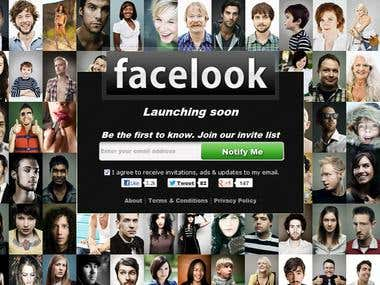 Facelook a social Website.