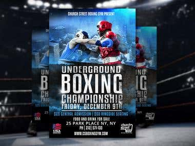 Boxing flyer done by me