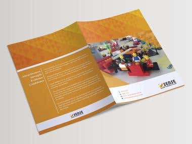 "Brochure design for ""Lego Serious Play."""