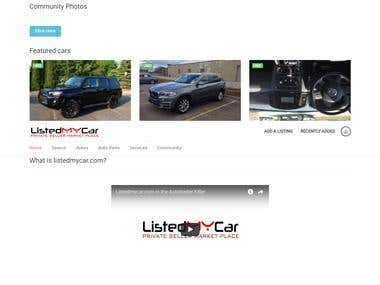Car Dealership Web Application | http://www.listedmycar.com/