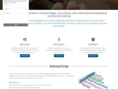 Accounting Web Application | https://advisorcorp.com.au/