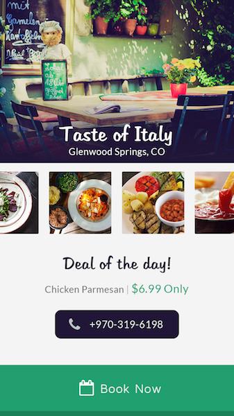 Mobile Food App Mockup