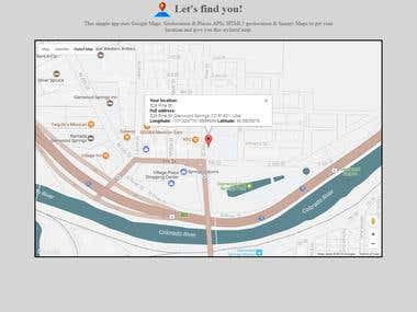 Let's Find You Google Maps Locator