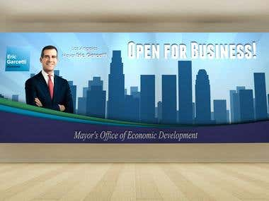Banner - Los Angeles Mayor