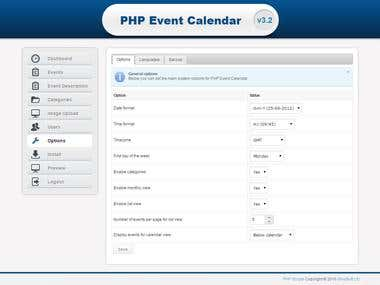 PHP Event Calender