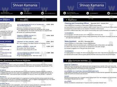 Resume or CV Design