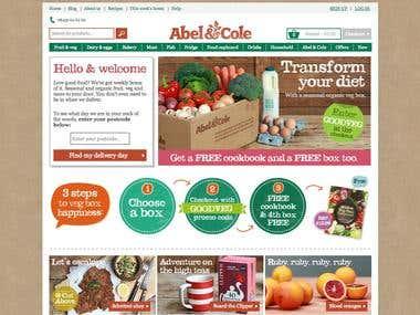 Abel & Cole ecommerce