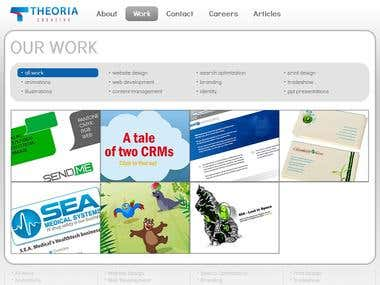 Website for Theoria Creative