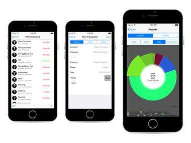 Financial Software Application for Iphone using Swift.