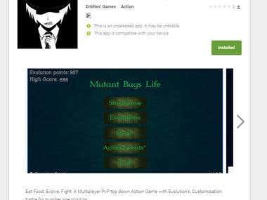 MutantBugsLife Full Online multiplayer game