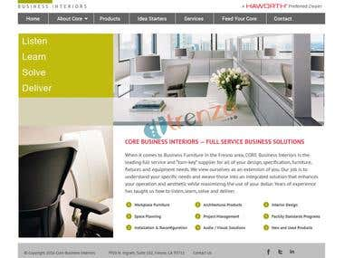 Wordpress | Core Business Interiors