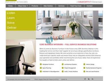 Wordpress | Core Business Interiors