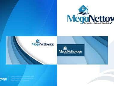 Mega Nettoyage Logo Design