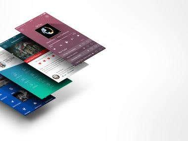 App screens (Mock up)