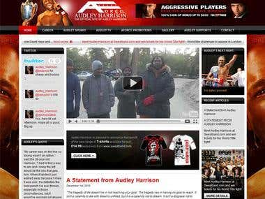 Audley Harrison Website