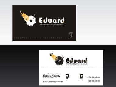Logo and business card for Eduard studio