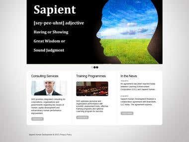 wordpress website develop (http://sapienthd.com/)