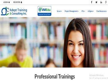 Adepttraining is coded in core php