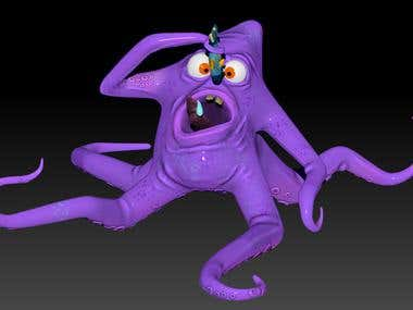 and octopus modelling using zbrush