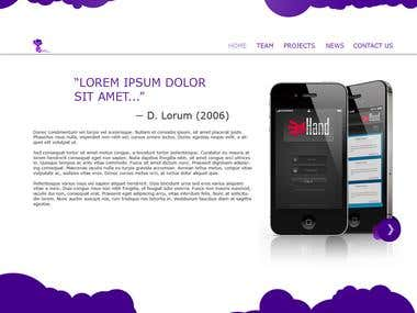 Web Design for 'Plume Technologies'