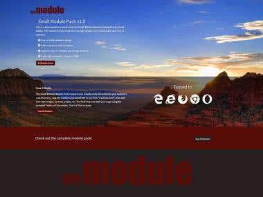 smModule Modular Responsive HTML Website Template