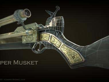 Sniper Musket - Low poly weapon