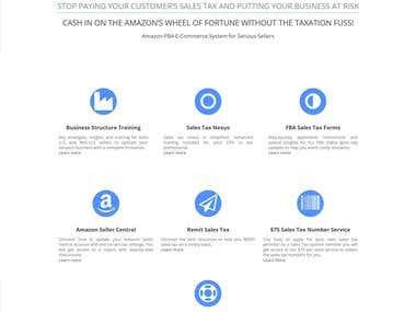 Sales Tax System Responsive Wordpress Website