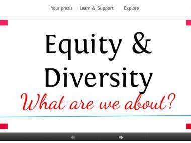Prezi: Equity & Diversity UWS