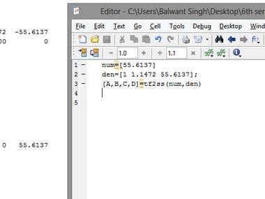 Control system Problems using Matlab