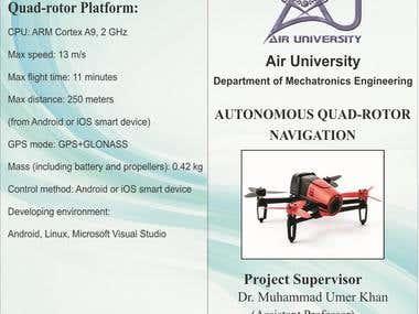 Autonomous Quad-rotor navigation