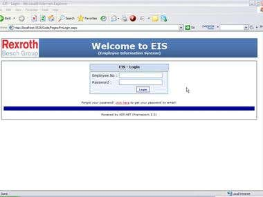 EIMS - Employee Information Management System, Web Portal