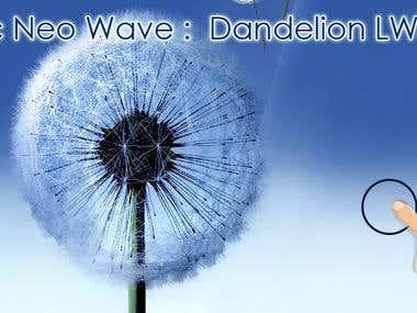 Magic Neo Wave : Dandelion Live Wallpaper